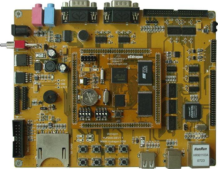 1个音频接口;  1个sd卡接口;  1个50芯lcd接口引出了lcd控制器和